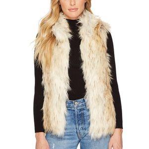 DKNYC faux fur vest